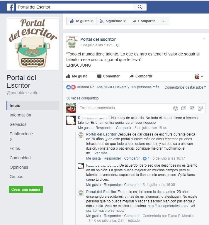 captura-facebook ¿Se puede aprender a escribir? ¡Sí!