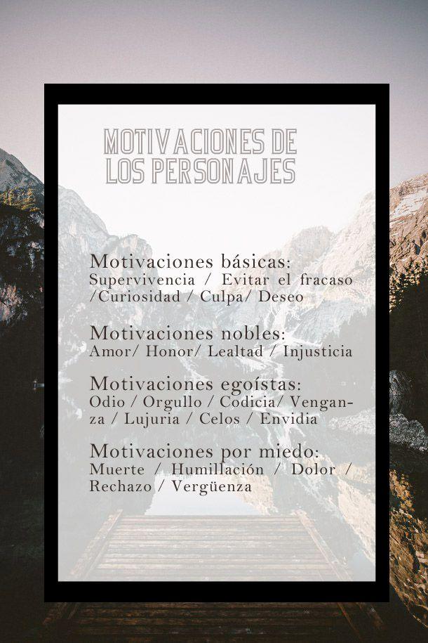 motivacionespersonajes El motor de la historia: las motivaciones de nuestros personajes